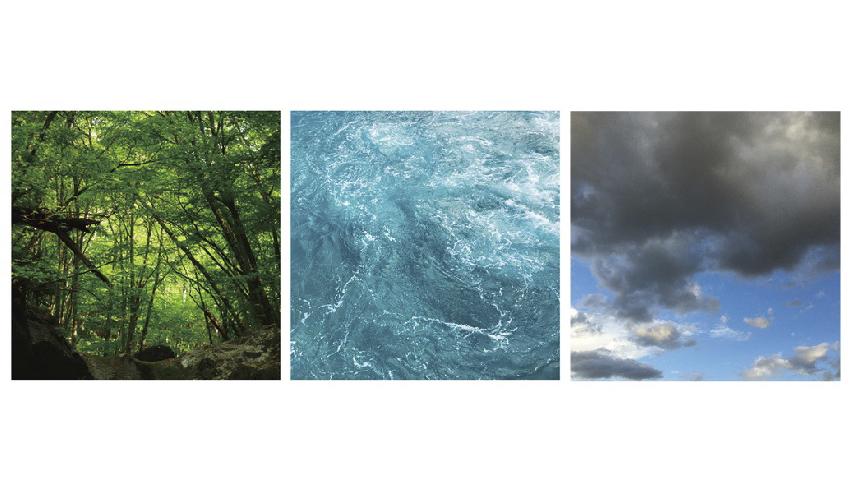 「山の思い出/海の記憶/空の記録」「私の中にある自然」