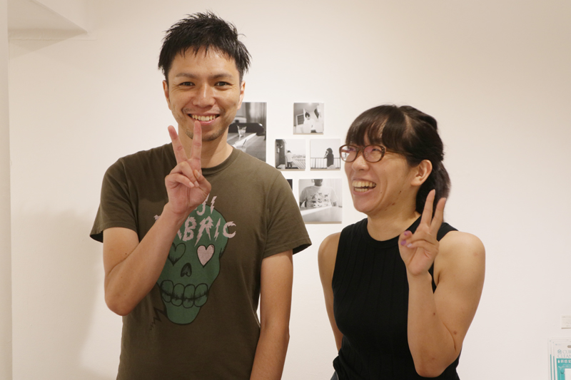 Junji Matsuzaki、ヤマモトサヤカ 二人展「真夏のピークが去った。」